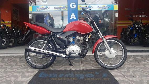 Honda Cg Fan 125es 2013 Vermelha Impecável