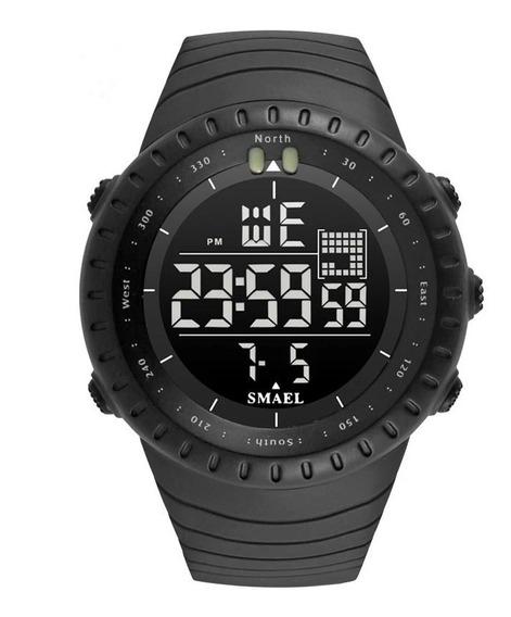 Relógio Digital Militar Ismael 50mm Esportivo Prova D