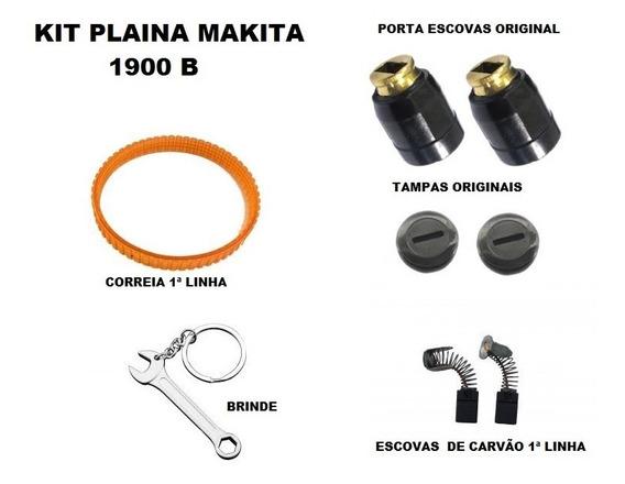 Kit Plaina Makita 1900b Correia+escovas+porta Escovas+tampas