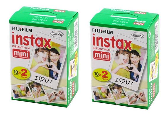 Mini Filme Instax 20 Folhas Por Caixa 2 Caixas