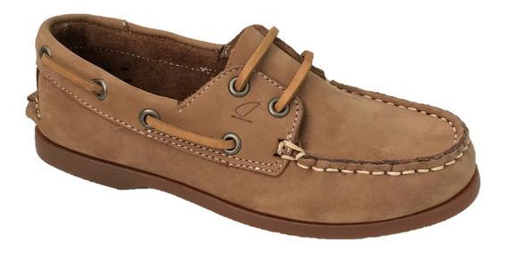 Zapato Casual Nautico Top Sailer 1801 N Hombre Piel Miel