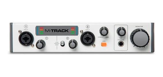 Interface De Áudio M-audio M-track 2 2x2 Usb 2 Canais
