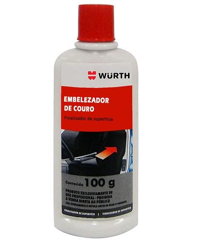 Imagem 1 de 2 de Embelezador De Couro Wurth 100g Hidrata, Limpa E Conserva