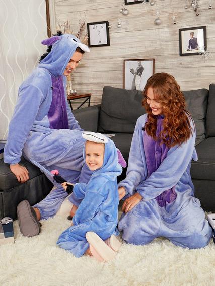 Burro Animal Onesie Pijama Familiar De Navidad Matching