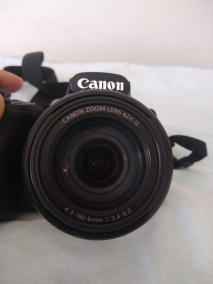 Câmera Canon Powershot Sx520 Hs Muito Nova, Todos Acessórios