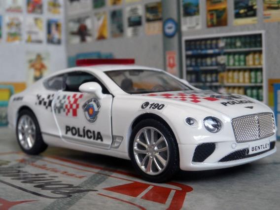Miniatura Bentley Continental Polícia Militar Pm Sp - Atual