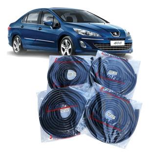 Burletes Para Las 4 Puertas Peugeot 408 (kit 4 Unidades) Silvaflex