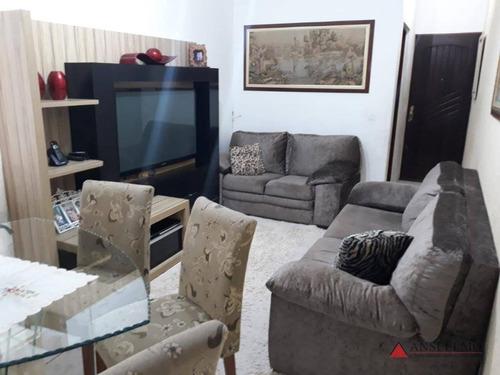 Apartamento Com 2 Dormitórios À Venda, 67 M² Por R$ 298.000,00 - Vila Humaitá - Santo André/sp - Ap1657