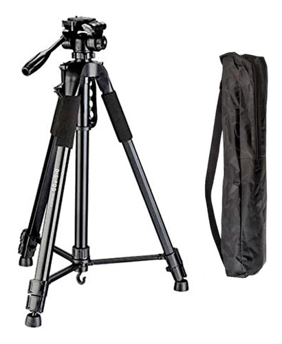 Imagem 1 de 10 de Tripe Camera Digital Filmadora Dslr Aluminio 1.6 Mts Tr 462