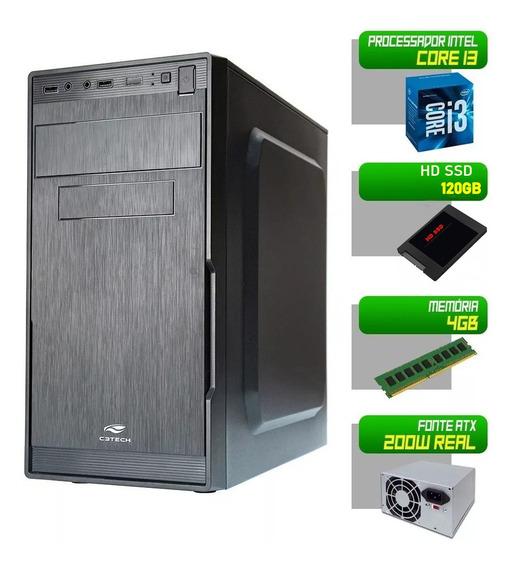 Computador Intel Core I3 - 4gb - Ssd 120gb - Hdmi - Novo