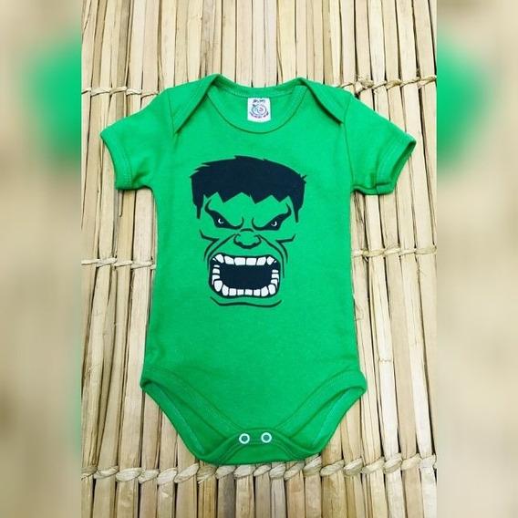 Roupa Para Bebe Menino Hulk Body Divertido