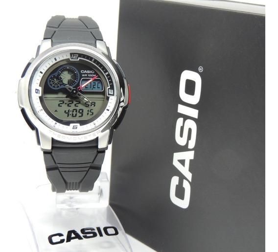 Relógio Casio Termômetro Mod: Aqf-102w-7bvdf - Nf E Garantia