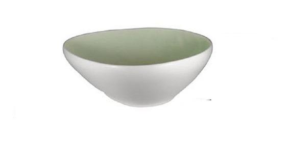 Bowl De Cerámica Irregular Interior Green