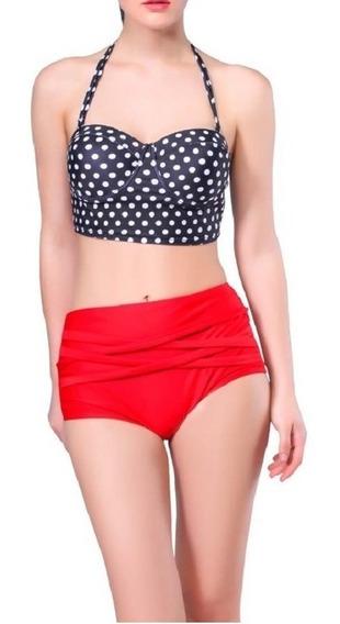 Vintage Bikini Oferta Traje De Baño Mujer, Retro Push Up