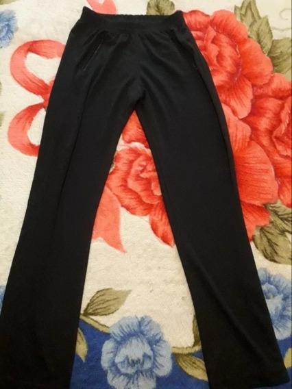 Pantalón Deportivo Negro Con Cierres Para Hombre