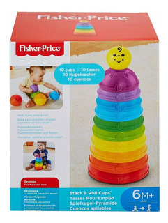Fisher-price Pirámide Copas Apilables De Colores Con Números