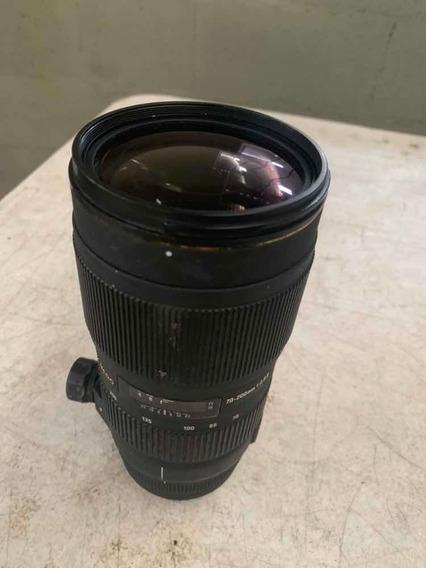 Lente 70-200mm F2.8 Sigma Bocal Ef Canon