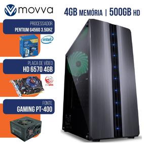 Pc Gamer Intel Pentium G4560 3.5ghz/4gb/500g/hd6570 4gb/400w