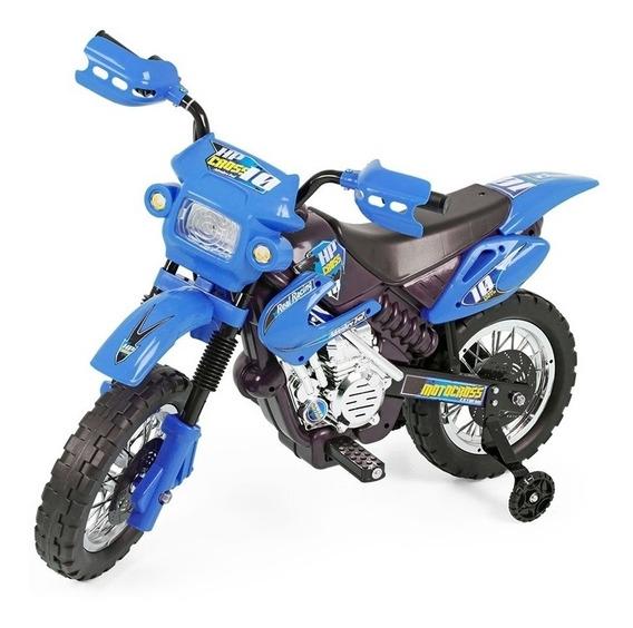 Moto Eletrica Infantil Motocross Azul Xplast