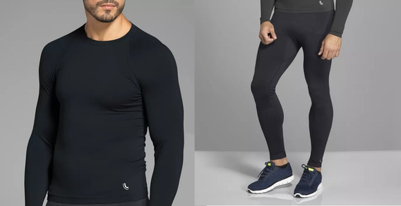 Conjunto Térmico Lupo Masculino! Camiseta Run E Calça Emana!