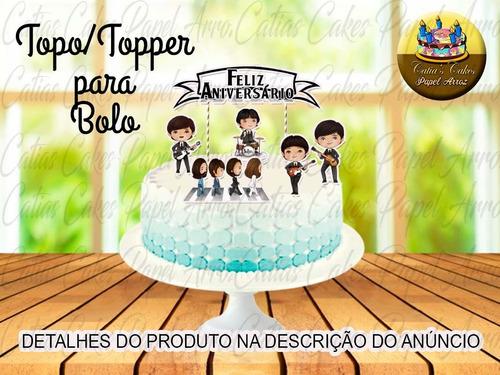 Imagem 1 de 1 de Topo Topper Para Bolo Beatles Banda Cute Baby