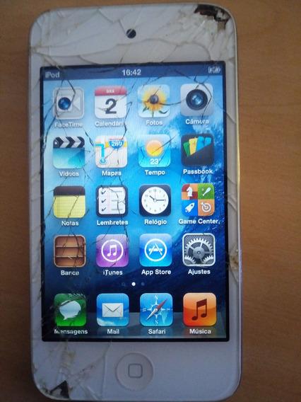 iPod 4° Geraçao 8gb Tela Trincada Icloud Resetado