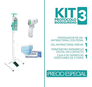 Dispensador Gel En Kit 3 Promo - Unidad a $19374