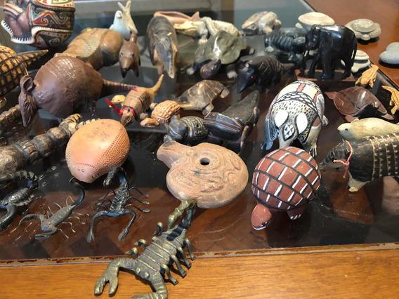 Colección Armadillos Escorpiones Ranas. Diversos Materiales