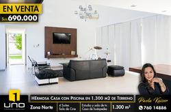 Hermosa Casa Con Mas De 1300 Metros Zona Norte