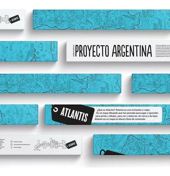 Atlantis Mapa Proyecto Argentina Colores En Fuga Kids