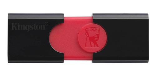 Imagen 1 de 1 de Memoria USB Kingston DataTraveler 106 DT106 64GB 2.0 negro y rojo