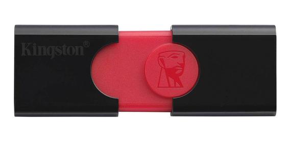 Pendrive Kingston DataTraveler 106 64GB preto/vermelho
