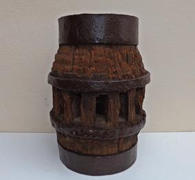 Antigo Centro Roda Carroça (madeira Arandela Lustre Traia 06