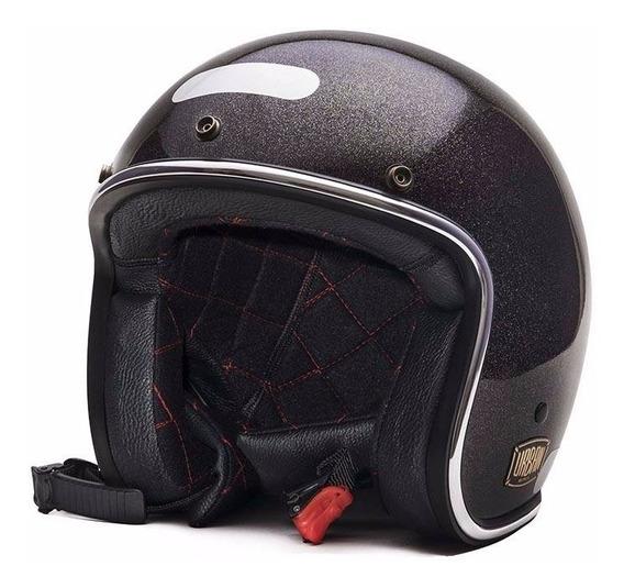 Capacete Urban Helmets Preto Perolizado Com Viseira Bolha