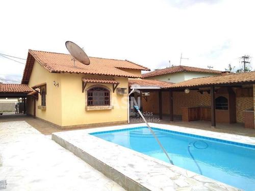 Casa Com 4 Dormitórios, Quintal E Piscina - Ouro Verde - Rio Das Ostras/rj - Ca0417