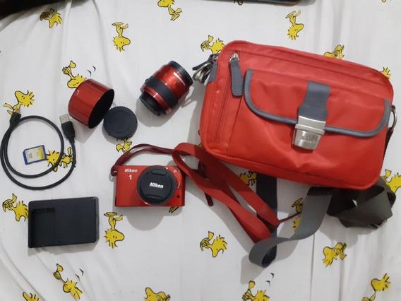 Nikon J1 Vermelha [estado De Nova]
