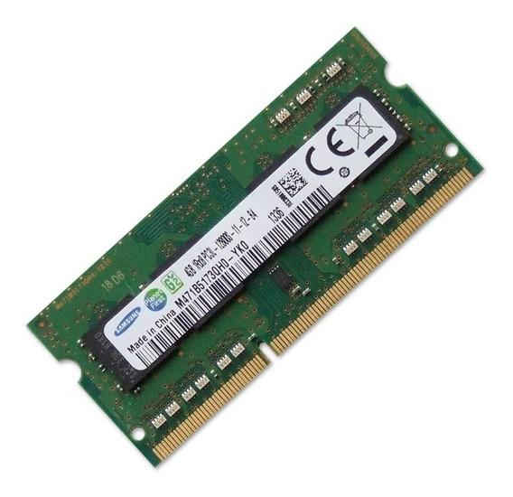 Memória Notebook Samsung 4gb Ddr3l 1600mhz 1rx8 M471b5173qh0