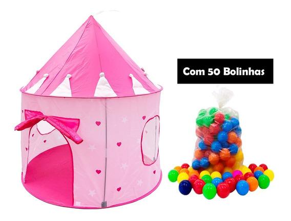 Barraca Infantil Castelo Menina Princesa Piscina De Bolinhas