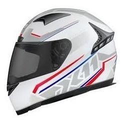 Capacete Fechado X11 Volt Dash Branco Tricolor