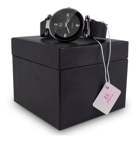 Relógio Feminino Aço Analógico Pulseira Magnética Rmm16