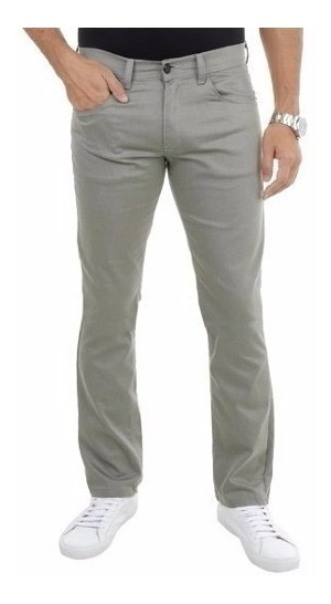 Calça Brim Masculina Sarja Slim Fit C/ Lycra Colorida Moda