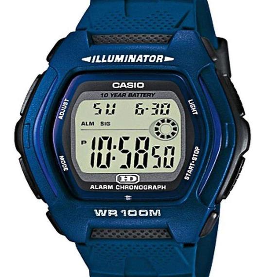 Relógio Casio Masculino Illuminator Quadrado Digital Azul