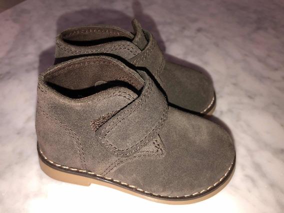 Zapatos De Cuero Gamuzado Bebé