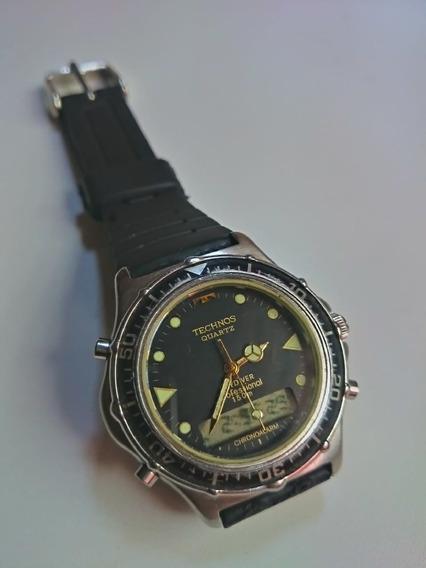 Relógio Technos Skidiver T206.08 Usado Dec. 90