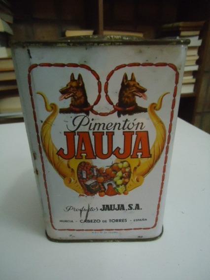 Lata Antigua De Pimentón Español Jauja Coleccionable