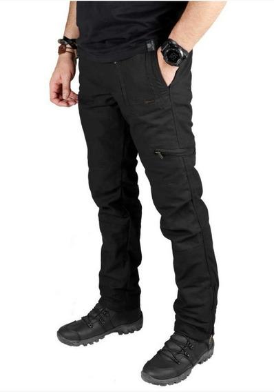 Calça Masculina Bélica Multiforce Preta Proteção Uv 50 Fps