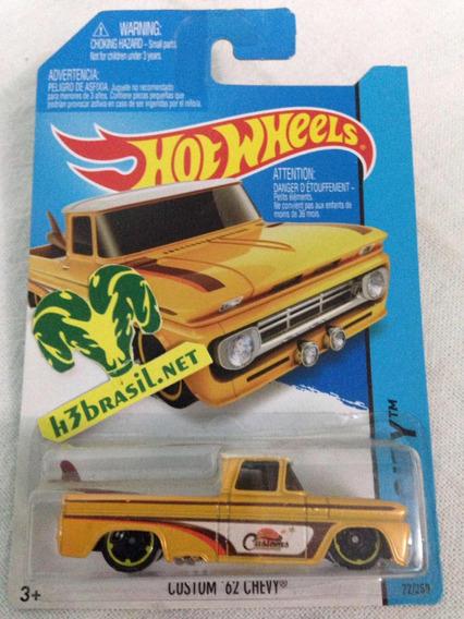 Bx131 Hot Wheels 2013 Custom 62 Chevy Pickup Truck Prancha