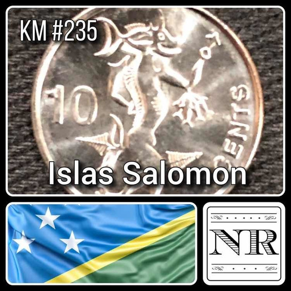 Islas Salomon - 10 Cents 2012 - Km # 235 - Espiritu Del Mar