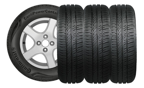 Kit X4 Neumaticos 185/65r15 Continental Power Contact - Fs6