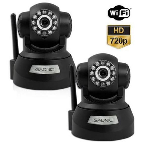 Set De 2 Camaras Ip Wifi Domo Motorizada 360° Interior 720p Graba Video Captura Fotos Alerta P/email Microf. Y Parlante